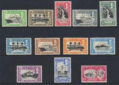 "ST LUCIA 1936, ""SPECIMEN SET"", VF NEVER HINGED SG#113s-24s (SEE BELOW)"