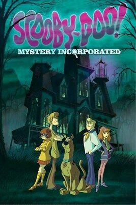 SCOOBY-DOO Mystery Incorporated ~ SPOOKY HOUSE CAST~ 24x36 CARTOON POSTER