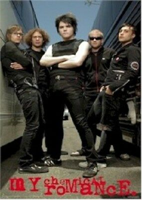 MY CHEMICAL ROMANCE ~ TOUR BUS GROUP ~ 22x34 MUSIC POSTER ~ NEW/ROLLED!