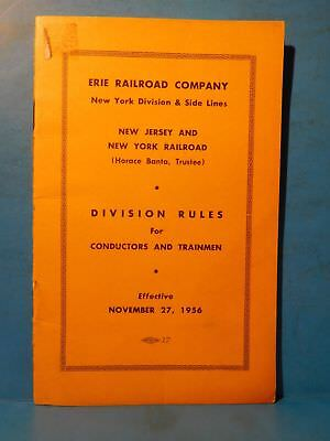Erie Railroad Company Division Rules for Conductors and Trainmen 1956 SC 13 Page