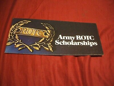1973 ARMY ROTC SCHOLARSHIPS Recruitment Brochure