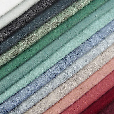 Woolfelt ~ 22cm x 90cm ~ Valley shades / wool blend felt fabric grey heathered