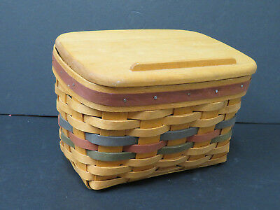 LONGABERGER RECIPE BASKET ~ 1994 SHADES OF AUTUMN with Liner