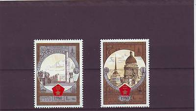 RUSSIA - SG4981-4982 MNH 1980 OLYMPIC TOURISM ROUND GOLDEN RING - 7th ISSUE