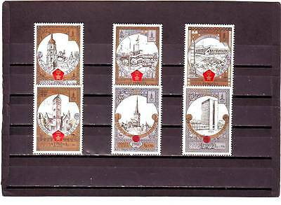 RUSSIA - SG4990-4995 MNH 1980 OLYMPIC TOURISM ROUND GOLDEN RING - 8th ISSUE