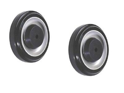 """(Pack of 2) Magliner 5"""" x 1-1/4"""" Polyurethane Wheel with 5/16"""" ID (Blue)"""