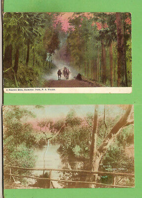 #f.   Two   Postcards - National Park Nsw  1907 / 1908, Horses