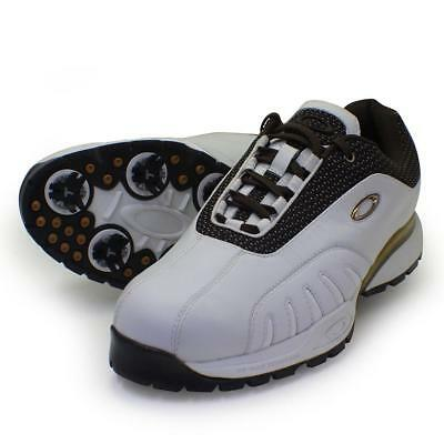 Oakley DOUBLE ACTION White Brown 9 US Mens Golf Casual Leather Shoes