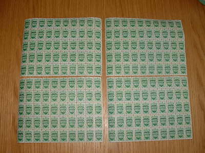 Unused Green Shield Stamps 4 Sheets Of 50 Block  Back Still Has Usable Glue