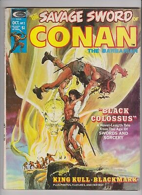 SAVAGE SWORD OF CONAN #2 (Very Good) Marvel Curtis Magazine Neal Adams Cover