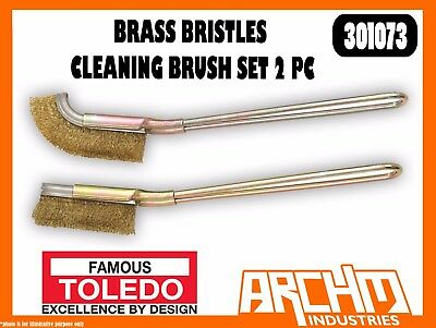 Toledo 301073 - Brass Bristles Cleaning Brush Set 2 Pc - Rust Scale Dirt Removal