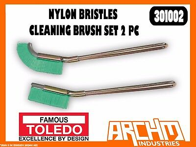 Toledo 301002 - Nylon Bristles Cleaning Brush Set 2 Pc - Rust Scale Dirt Removal