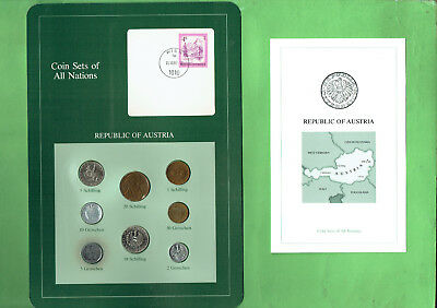 Carded  Coins Of The World - Austria, Toning To Five Groschen