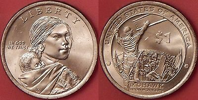 Brilliant Uncirculated 2015P US Native American 1 Dollar From Mint's Roll