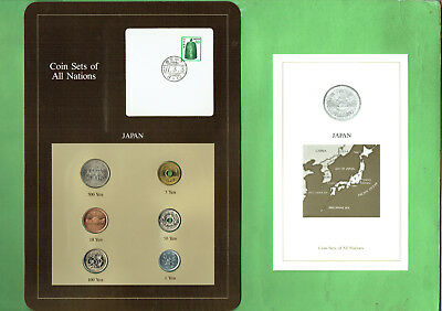 Carded  Coins Of The World - Japan