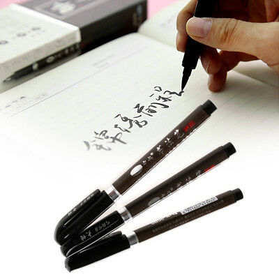 3x Chinese Japanese Calligraphy Shodo Brush Re-Ink Soft Tip Pen Writing Painting