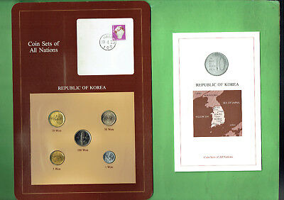Carded  Coins Of The World - Korea