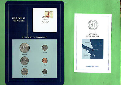 Carded  Coins Of The World - Singapore