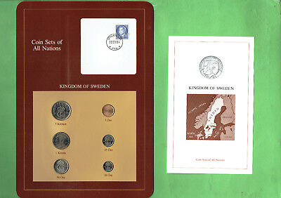 Carded  Coins Of The World - Sweden