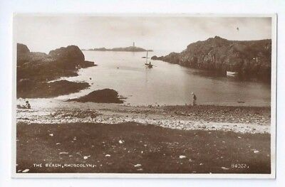 Postcard The Beach Rhoscolyn Bay Anglesey 1930's Bodior