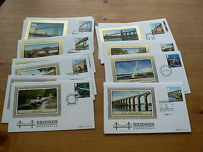 Bridges 2015, Benham First Day Covers,  Sold Individually