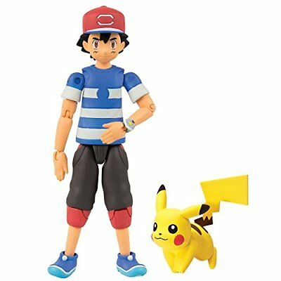 NEW 100% OFFICIAL TOMY POKEMON Ash & Pikachu Figure  2017 Alola- LIMITED STOCK