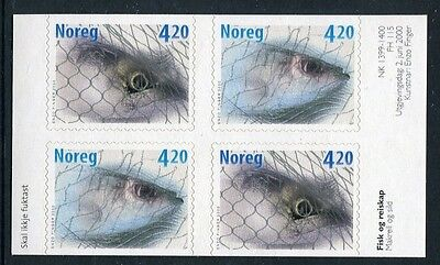 Fish 2000 - Mnh Ex-Booklet Block Of Four Self-Adhesives (Bl314-Rr)