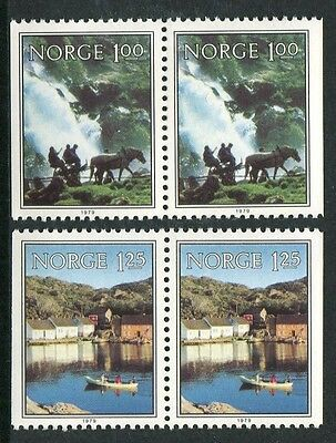 Norwegian Scenes 1979 - Mnh Set Of Two Booklet Pairs (Bl314-Rr)