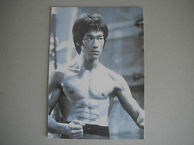 BRUCE LEE : POSTCARD . ENTER THE DRAGON . PRINTED IN THE U.K ISSUED IN THE 90's