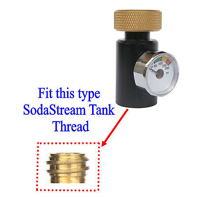 New CO2 ASA On/Off Adapter With 3000PSI Gauge For Fill SodaStream tank