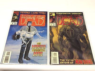 BOOK OF THE DEAD #1-2 (MARVEL/Frankenstein/Man-Thing/111591) SET LOT OF 2