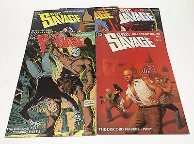 Doc Savage #1-6 (DC/1988/ONEIL/WHIGHAM/MONTANO/1114427) SET LOT OF 5