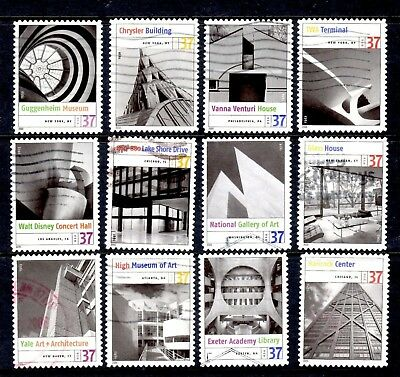 2005 #3910 37c Modern American Architecture 12 Complete Used