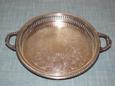 Vintage Crosby Silver Plate Serving Tray