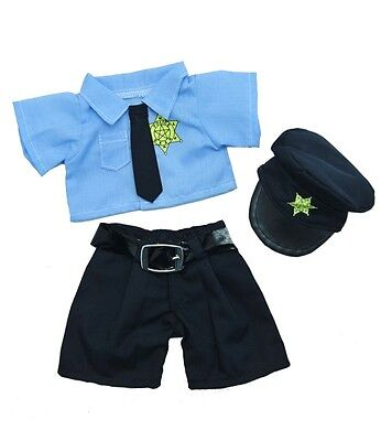 """Police Bear Outfit Uniform Teddy Bear Clothes to fit 8""""-10"""" bears"""
