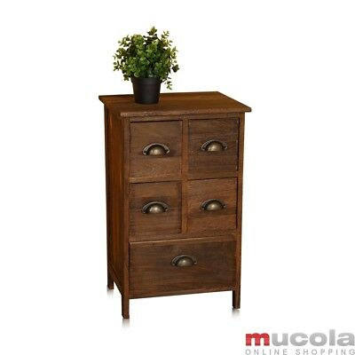 Vintage Kommode Schrank Regal Sideboard Holz Nachttisch Braun Regal Kinder