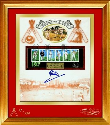 Golden Age of Cricket Card - Signed by Ian Botham - Framed