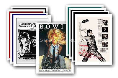 DAVID BOWIE  - 10 promotional posters - collectable postcard set # 9