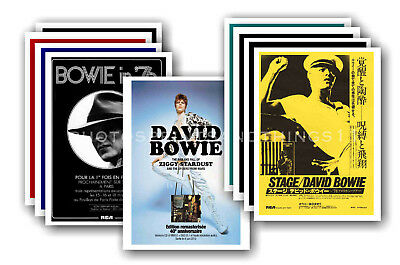 DAVID BOWIE  - 10 promotional posters - collectable postcard set # 11