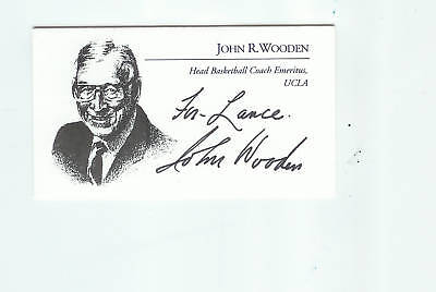 Ucla/john Wooden Signed Business Card Proof!