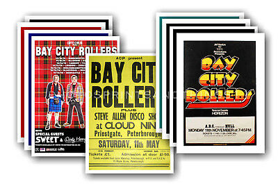 BAY CITY ROLLERS - 10 promotional posters - collectable postcard set # 1