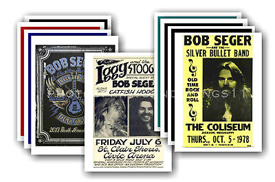 BOB SEGER - 10 promotional posters - collectable postcard set # 1