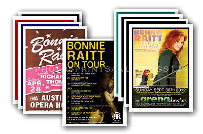 BONNIE RAITT - 10 promotional posters - collectable postcard set # 1