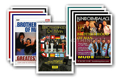 BROTHERHOOD OF MAN - 10 promotional posters - collectable postcard set # 1