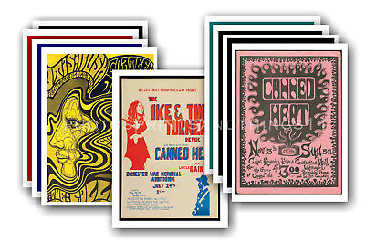 CANNED HEAT - 10 promotional posters - collectable postcard set # 1