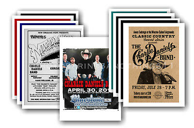 CHARLIE DANIELS BAND - 10 promotional posters - collectable postcard set # 1