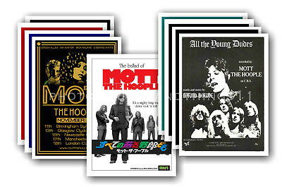 MOTT THE HOOPLE - 10 promotional posters - collectable postcard set # 1