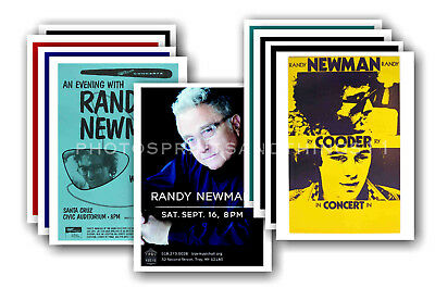 RANDY NEWMAN - 10 promotional posters - collectable postcard set # 1