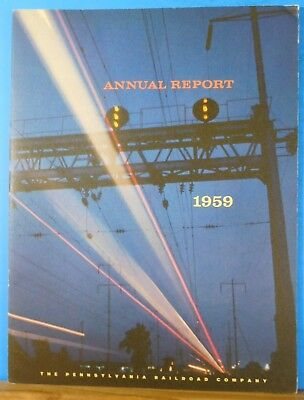 PRR Annual Report 1959 Pennsylvania Railroad