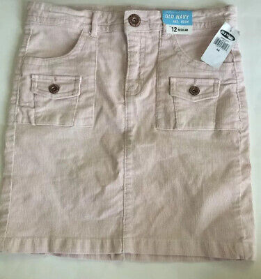 Girls Old Navy Pink Corduroy Skirt NWT Size 12